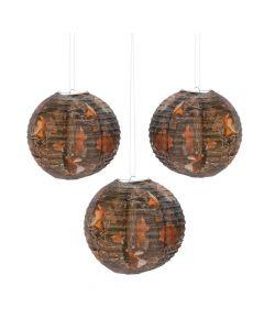 Camouflage Hanging Paper Lanterns