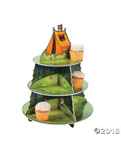 Camp Adventure Cupcake Stand