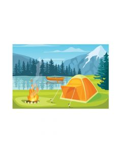 Camp Scene Backdrop