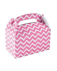 Candy Pink Chevron Favor Boxes