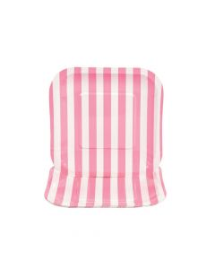 Candy Pink Striped Square Paper Dessert Plates - 8 Ct.
