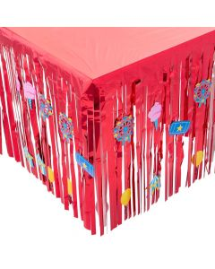 Carnival Table Skirt with Cutouts