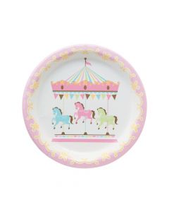 Carousel Baby Shower Paper Dinner Plates