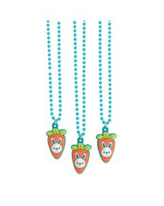Carrot and Bunny Necklaces