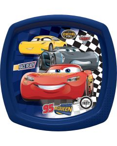 Cars 3 Fast Friends Square Shaped Plate Blue