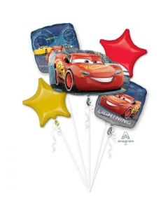 Cars 3 Lightening Mcqueen Foil Balloon Bouquet