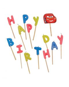 Cars 3 Party Favor Happy Birthday Toothpick Candles