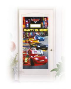 Cars 3 Party Favor Personalized Door Banner