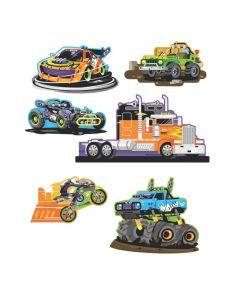 Cars and Trucks Paper Cutouts