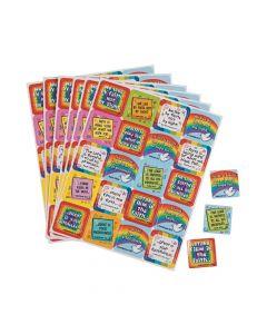 Carson-Dellosa Faith Verses Rainbow Sticker Sheets