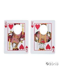 Casino Playing Card Face Cutouts