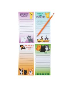Cat and Dog Magnetic Notepads