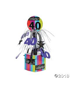 Celebrate Milestone 40TH Birthday Centerpiece