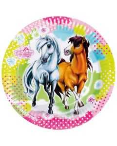 Charming Horses Paper Plates
