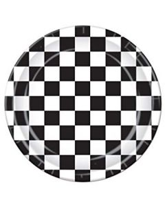 Checkered Paper Plate