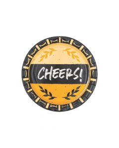 Cheers and Beers Paper Dessert Plates