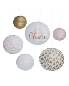 Cheers Printed Hanging Paper Lanterns