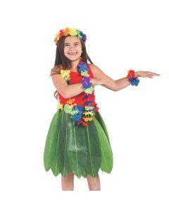 Child's Banana Leaf Hula Skirt and Leis Set