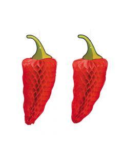Chili Pepper Tissue Decorations