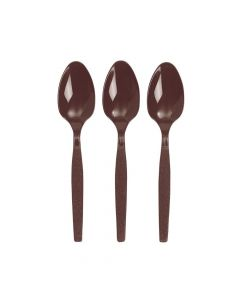 Chocolate Brown Plastic Spoons