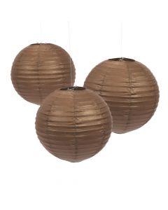 Chocolate Hanging Paper Lanterns