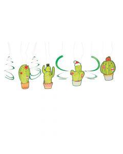 Christmas Cactus Hanging Swirls