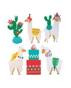 Christmas Cactus and Llama Cutouts