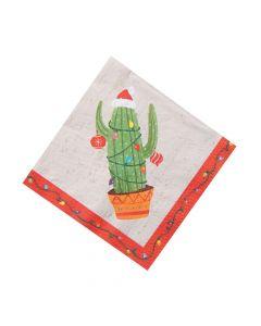 Christmas Cactus Luncheon Napkins