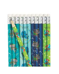 Christmas Shark Pencils