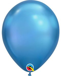 Chrome Blue 27cm Round Latex Balloon