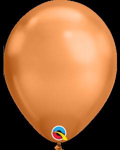 Chrome Copper 27cm Round Latex Balloon