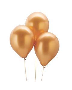 "Chrome Gold 11"" Latex Balloons"