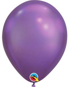 Chrome Purple 27cm Round Latex Balloon