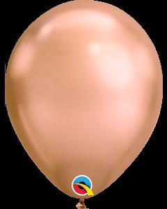 Chrome Rose Gold 27cm Round Latex Balloon