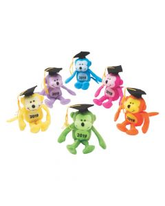 Class of 2019 Neon Stuffed Monkeys