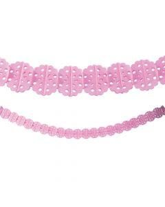 Classic Pink Tissue Garland