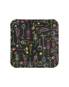 Cocktail Party Paper Dinner Plates - 8 Ct.