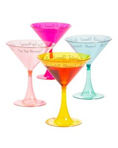 Cocktail Party Plastic Martini Glasses