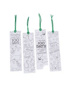 Color Your Own 100th Day of School Bookmarks