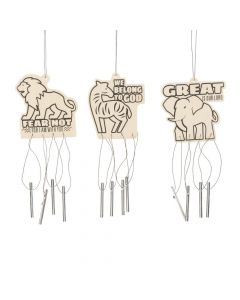 Color Your Own African Safari VBS Wind Chimes