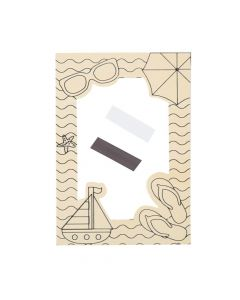 Color Your Own Beach Picture Frame Magnets