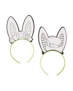 Color Your Own Bunny Ear Headbands