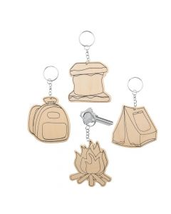 Color Your Own Camp Keychains
