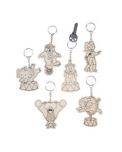 Color Your Own Circus Keychains