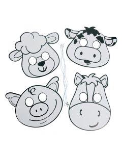 Color Your Own Farm Animal Masks