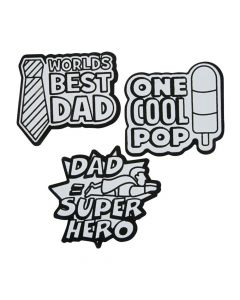 Color Your Own Father's Day Fuzzy Magnets