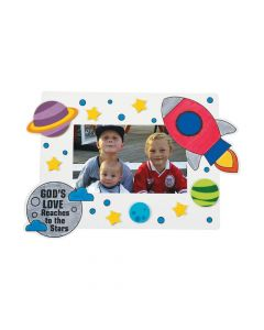 Color Your Own God's Galaxy VBS Picture Frame Magnets with Stickers