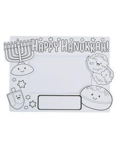 Color Your Own Hanukkah Picture Frames