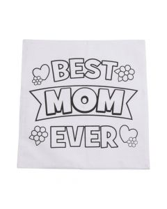 Color Your Own Mother's Day Canvas Pillow Cover