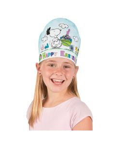 Color Your Own Peanuts Easter Crowns